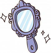 The view of hand mirror