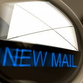 New Mail Postage Means Unread Email Or Message