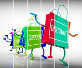 Discount Shopping Bags Show Sales, Bargains, And Discounts