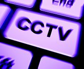 Cctv Keyboard Shows Camera Monitoring Or Online Surveillance