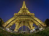 Fish-eye View Of Eiffel Tower