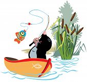 fishing mole