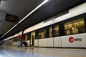 VALENCIA, SPAIN - JUNE 9, 2014: The Valencia Metro at the