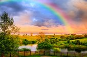 picture of bluegrass  - Countryside after storm - JPG