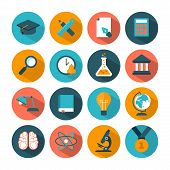 set of modern vector education icons