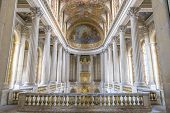 Famous Royal Chapel Inside Versailles, France