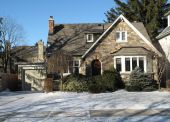 Family home in winter
