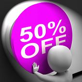 Fifty Percent Off Pressed Shows Half Price Or 50