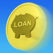 Loan Gold Coin Means Credit Borrowing Or Investment