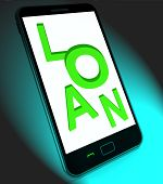 Loan On Mobile Means Lending Or Providing Advance