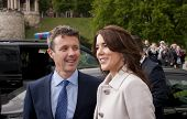 Denmark Prince Frederik And Princess Mary Visit Polan