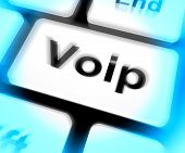 Voip Keyboard Means Voice Over Internet Protocol Or Broadband Te