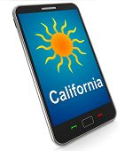 California And Sun On Mobile Means Great Weather In Golden State