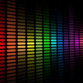 Background with abstract color spectrum music graphic equalizer.