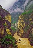 Leaping Tiger Gorge, Yunnan, China, Oil Paint Stylization