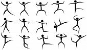 Vector Stylized Dancing Figurines