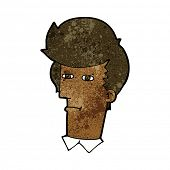 cartoon man narrowing eyes
