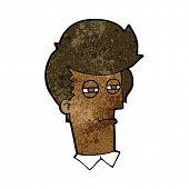 cartoon man with narrowed eyes