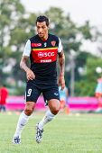Sisaket Thailand-june 8: Jay Bothroyd Of Muangthong Utd. In Action During A Training Ahead Thai Prem