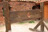 Medieval wooden stocks