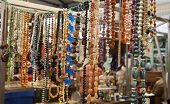 LONDON, UK - MAY 15, 2014: Greenwich market, feminine accessory close up