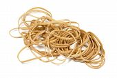 Beige Elastic Bands Stacked In A Pile