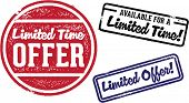 Limited Time Offer Vintage Retail Stamps