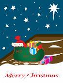 Trineo de Santa Claus completo de regalo