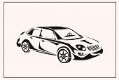 Vector illustration of car