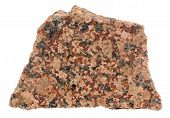 Piece Of Polished Red Granite Isolated On White Background