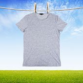 Washing Gray T Shirt