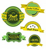 Collection Of Premium Quality And Best Offer Labels Vector