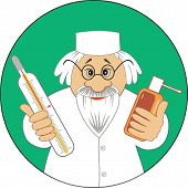 Good doctor with medicine