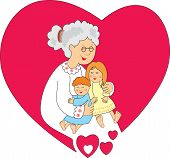 Grandmother  with small grandsons