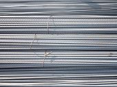 stock photo of deformed  - Deformed rebar pattern  - JPG