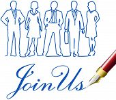 Recruiting invitation drawing to join company business team