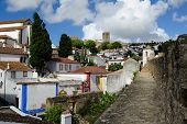 Town Within Castle Walls, Obidos, Portugal
