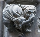 Gothic gargoyle on New Town Hall (Munich, Germany).