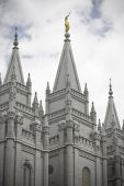 Spires of Mormon Temple