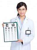 Optometrist woman doctor