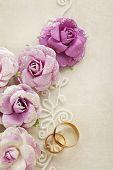 wedding background with wedding rings