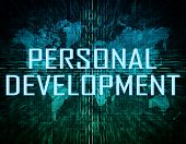 foto of self assessment  - Personal Development text concept on green digital world map background - JPG