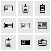 Vector id card icon set