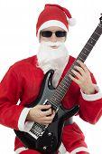 Guitarist With Santa Claus Costume