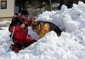 Mountain Rescue Service At Red Cross