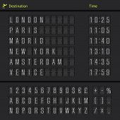 Analog airport scoreboard