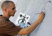 Graffiti Artist Painting
