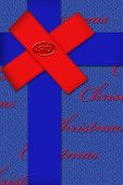 Holiday package ribbons and bows