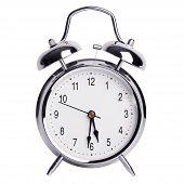 Round Metal Alarm Clock