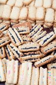 Freshly Baked Decorated Condensed Milk Biscuits